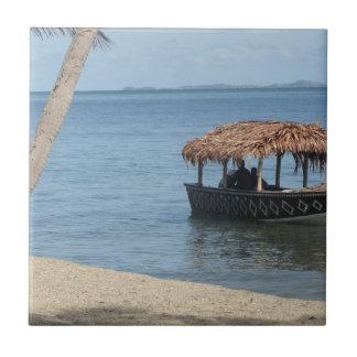 Barco del tejado cubierto con paja azulejo cuadrado pequeño