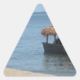 Barco del tejado cubierto con paja pegatina trianguladas personalizadas