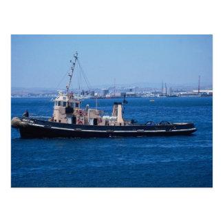 """Barco del tirón de Sealyham"""", puerto de Gibraltar, Tarjetas Postales"""