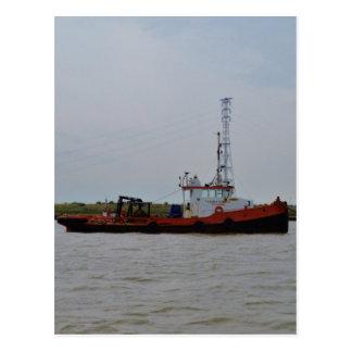 Barco del tirón del río Támesis Tarjeta Postal