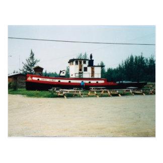 Barco del tirón postales