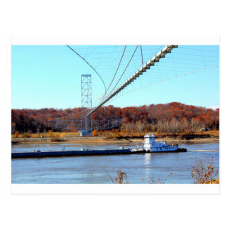 Barco del tirón tarjetas postales