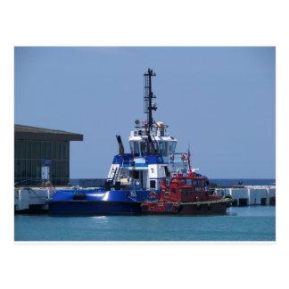 Barco del tirón y barco experimental postal