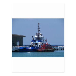 Barco del tirón y barco experimental tarjeta postal