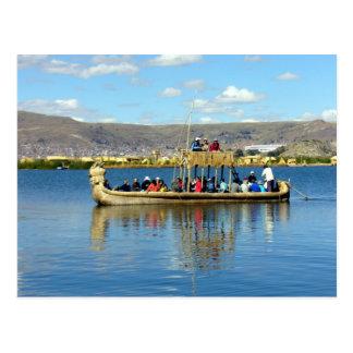 barco del titicaca postal