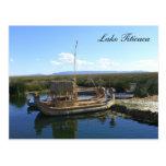 barco del titicaca tarjeta postal