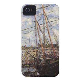 Barco durante la bajamar en Fecamp de Claude Monet Funda Para iPhone 4 De Case-Mate
