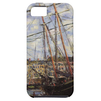 Barco durante la bajamar en Fecamp de Claude Monet Funda Para iPhone SE/5/5s