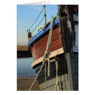 Barco en Blakeney Tarjeta De Felicitación