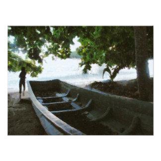 Barco en descanso fotografías