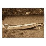 Barco en el agua tarjeta