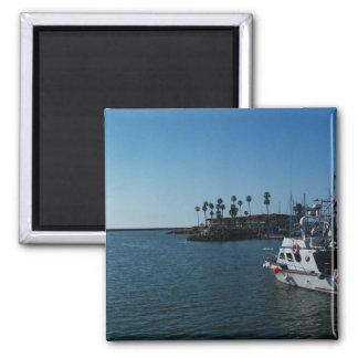 Barco en el puerto de la costa - CA Imán Para Frigorifico