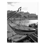 Barco en el río Sena París Tarjetas Postales
