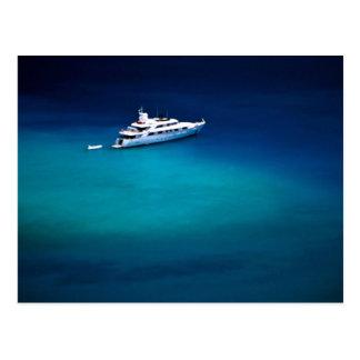 Barco en la bahía de Magens, St Thomas, Islas Vírg Tarjetas Postales