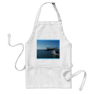 Barco en la costa delantal