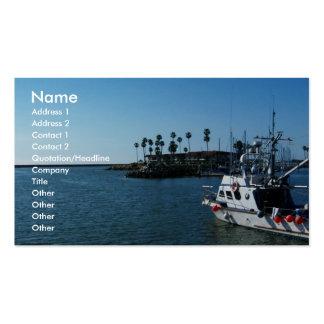 Barco en la costa, tarjetas del CA-Negocio Tarjetas De Visita