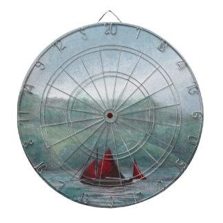 Barco en la lluvia tablero de dardos