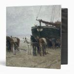 Barco en la playa en Scheveningen, 1876