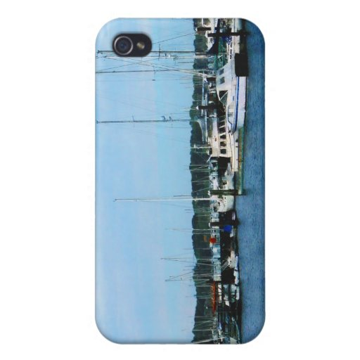 Barco en Newport RI iPhone 4 Cárcasa