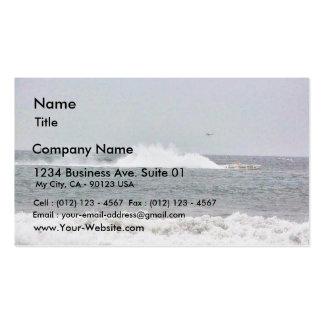 Barco en raza tarjetas de visita