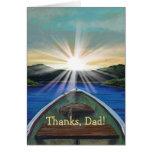 Barco en tarjeta personalizada del día de padre de