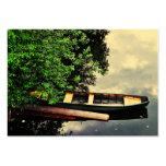 Barco en un lago tarjeta de visita