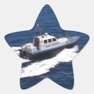 Barco experimental a la velocidad pegatina en forma de estrella