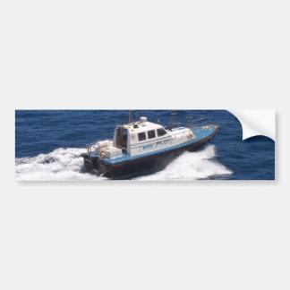 Barco experimental a la velocidad pegatina para auto