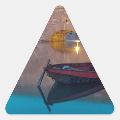 Barco francés pegatina triangular