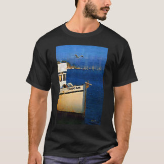 Barco, gaviota, puesta del sol, bahía de Morro, Playera