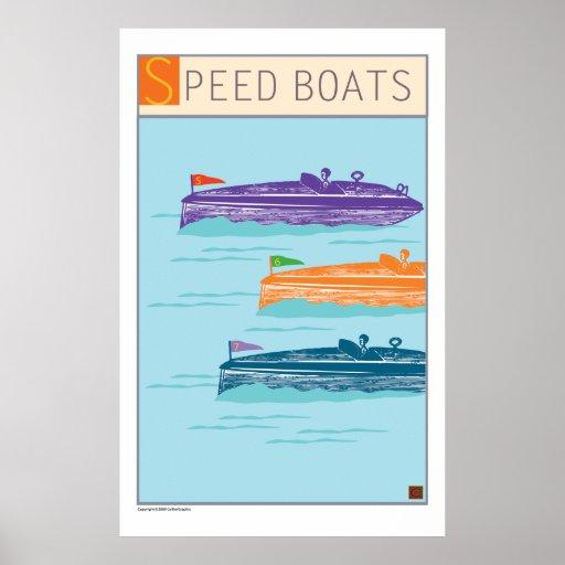 Barco-Impresiones/poster de la velocidad