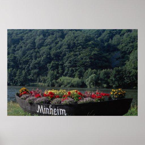 Barco inusitado usado como cama de flor, Mannheim, Póster