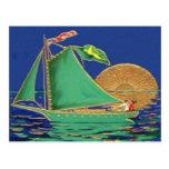 Barco irlandés de Sun de la bandera americana de Tarjetas Postales