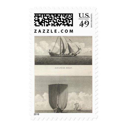 Barco japonés sello