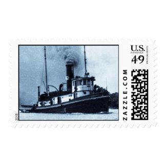 Barco Jesse James del tirón Estampillas