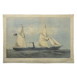 "Barco ""Kanawha"" Placemat del vapor de los E.E.U.U. Manteles"