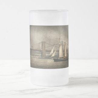 Barco - navegación - ciudad de las podadoras taza cristal mate