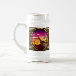 Barco - navegación - semana de la flota jarra de cerveza