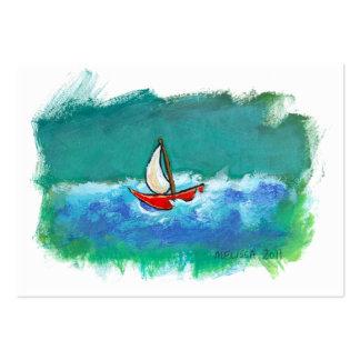 Barco original de la diversión de la navegación qu tarjetas de visita