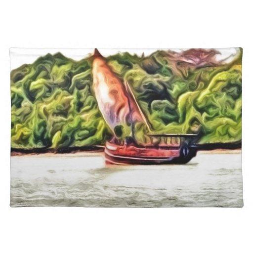 barco pintado mantel