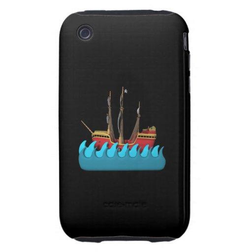 Barco pirata 2 iPhone 3 tough fundas