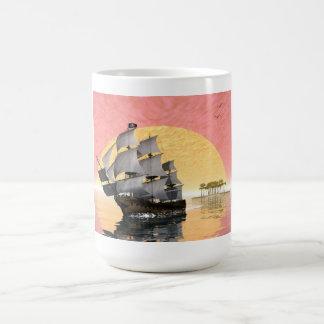 Barco pirata - 3D rinden Taza Clásica