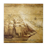 barco pirata azulejo cerámica