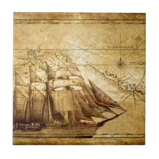 barco pirata azulejo cuadrado pequeño