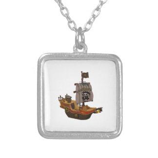 Barco pirata colgante cuadrado