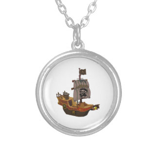 Barco pirata colgante redondo