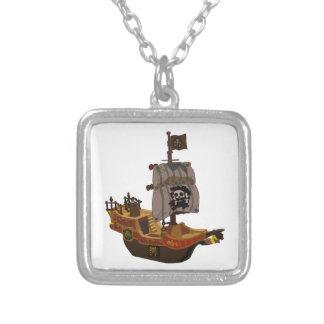 Barco pirata de madera colorido de lujo colgante personalizado