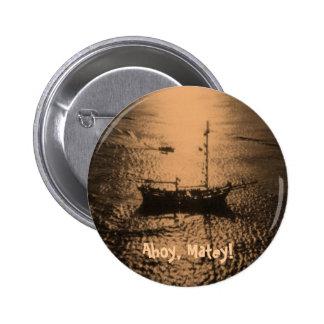 Barco pirata en bronce pin redondo de 2 pulgadas