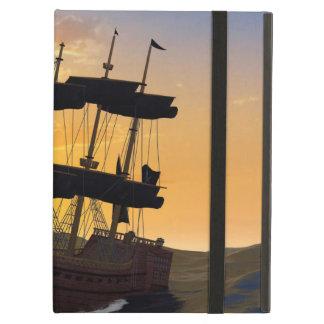 Barco pirata en los altos mares