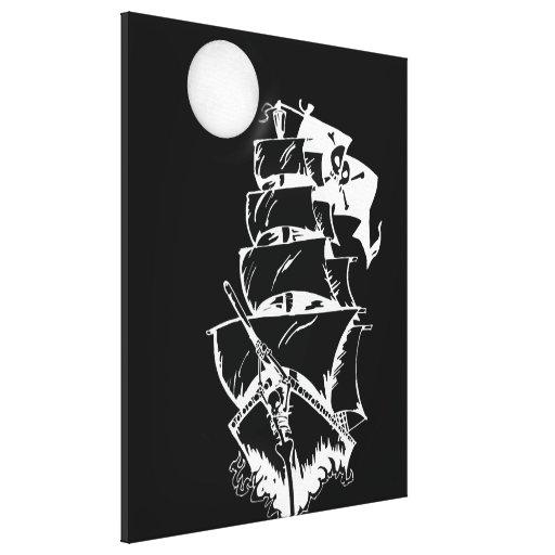 Barco pirata en los altos mares impresión en lienzo estirada